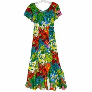 Jams World Colorful Floral Bright Flower dress